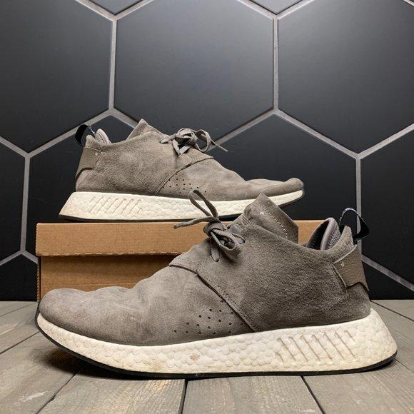 Box Adidas Nmd C2 Suede Grey Size
